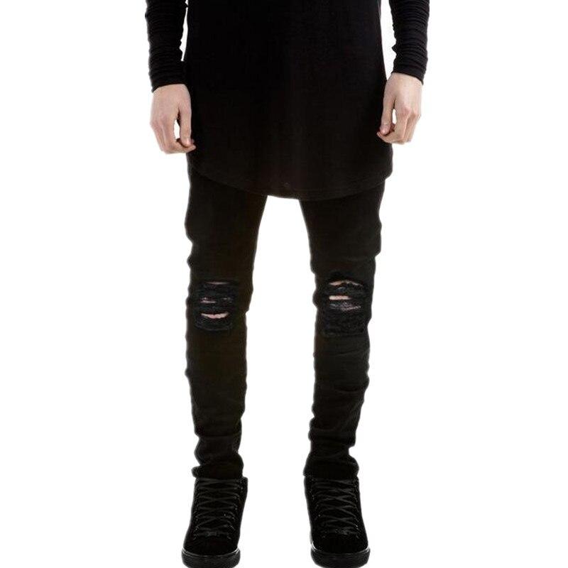 New Hi-Street Mens Black Ripped Jeans Men Plus Size 27-40 Fashion Male Distressed Skinny Jeans Destroyed Denim Jeans Pants,YA022Одежда и ак�е��уары<br><br><br>Aliexpress
