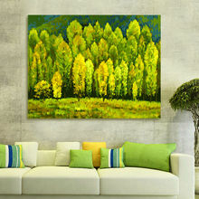diy oil painting  Green forest   diy digital painting  drawing practice for kids  coloring by numbers  modular painting
