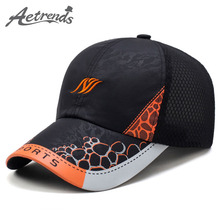 [AETRENDS] New 2017 Man Woman Baseball Caps Men's Hats Breathable Summer Mesh Cap Polo Visor Cap Z-5108