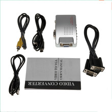 Laptop PC VGA to TV AV RCA Composite video adapter converter Switch Box Support S-video RGB NTSC/PAL Computer Signal