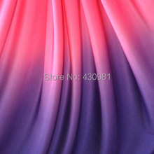 Spandex Fabric Shaded Gradient Material For Evening Dress 4 Way Stretch Material for Latin Clothing Lycra Knit Fabric(China)