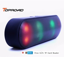 Toproad LED Bluetooth Speaker Portable Wireless Speaker Mini Sound System 3D Stereo Music MP3 Player Surround Support TF AUX USB