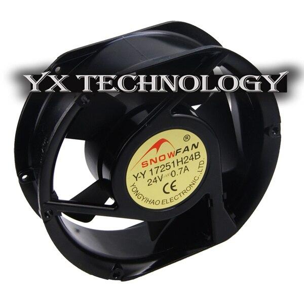 New YY17251H24B DC 24V 0.7A 17cm 17251 Double ball rust proof fan cooling fan 172*150*51mm<br><br>Aliexpress