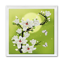 DIY Moonlight Yulan Counted Cross Stitch Kit Home Decoration Cross-Stitch Embroidery