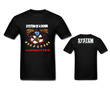 SYSTEM OF A DOWN Men's T Shirt HYPNOTIZE S.O.A.D. Rock Band Music Casual Basic Tops Tees T-shirt Front&Back Printing Size S-3XL