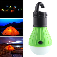 Soft Light Outdoor Hanging LED Camping Tent Light Bulb Fishing Lantern Lamp Wholesale free shipping(China)