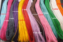 72meter/lot 13 Color 1MM Waxed Cotton Cord Wax Bead String Thread Chain Handmade Jewelry Findings In Bulk DIY Necklace Bracelet(China)