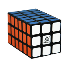 CubeStyle WitEden 3x3x6 Magic Cube Tower (Difficulty 9 of 10) Magic Cube Fully Functional Puzzle Black and White 3x3x6 Cube(China)