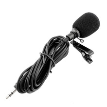 Clip-on Lapel Tie Lavalier Microphone 3.5mm Jack For iPhone SmartPhone Recording