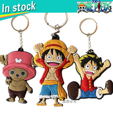 Wholesale In stock faster shipping One piece Anime cartoon Keychains action toy figures pendant Key Chains Collection model toy