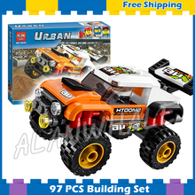 9City Great Vehicles Stunt Truck Road Model Building Blocks 10645 Assemble Bricks Children Toys Compatible Lego - Cheery baby store