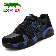 MOZOEYU Brand Running Shoes Height Increasing Breathable Nubuck Leather Sport Shoes Sneakers Men Women Flats Trainers Big size