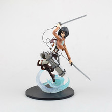 Japanese Anime Attack on Titan Mikasa Ackerman PVC Action Figure Collectible Model Toy 23CM KT1700(China)