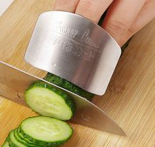Free shipping Kitchen Cooking Tools Stainless Steel Finger Hand Protector Guard Personalized Design Chop Safe Slice Knife(China)