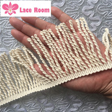 High Quality 9cm Width Cream Small Lace Tassel Fringe DIY Sofa Pillow Lace  Tablecloth Curtain Accessories 3 Meters/Lot