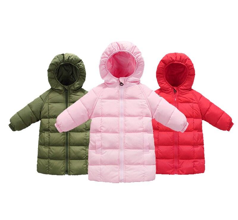 18M-5T Childrens Clothing Down Fashion White Duck Down Boy Clothes Long Sleeve Hooded Winter For Down Girl Kids Clothes V20Îäåæäà è àêñåññóàðû<br><br>