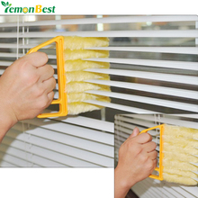 LemonBest Microfiber Venetian Blinds Cleaning Brush Slat Dust Cleaner Cleaning Clip Duster Window Air Conditioner Duster Brushes(China)