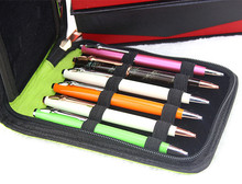 Portable Fountain Pen Case Roller Pen Pencil Bagg reen Zipper Case for 12 Pens Gifts Office School Supplies