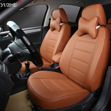 Yuzhe Leather car seat cover For Toyota RAV4 PRADO Highlander COROLLA Camry Prius Reiz CROWN yaris accessories styling cushion
