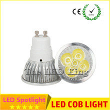 1pcs Super Bright 9W 12W 15W GU10 LED Bulbs Light 110V 220V Dimmable Led Spotlights Warm/Cool White GU 10 COB base LED downlight