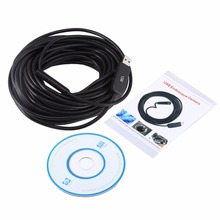 JINGLESZCN USB 10mm Dia 2/5/7/10/15/20/25m Length the Endoscope  Waterproof  6-led Borescope  Inspection mini Pipe Camera Camera