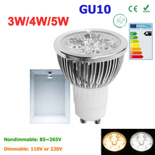 Super Bright 3W 4W 5W GU10 LED Bulbs Light 110V 220V Dimmable Led Spotlights warm/ cold white Natural White lamps for home(China)