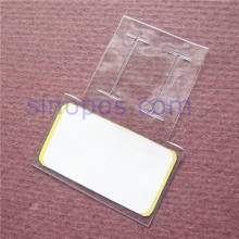 Small Vinyl Sleeves For Glasses Hang Tag, jewelry barcode label PVC pouch plastic bag envelope wire flag card protector holder(China)