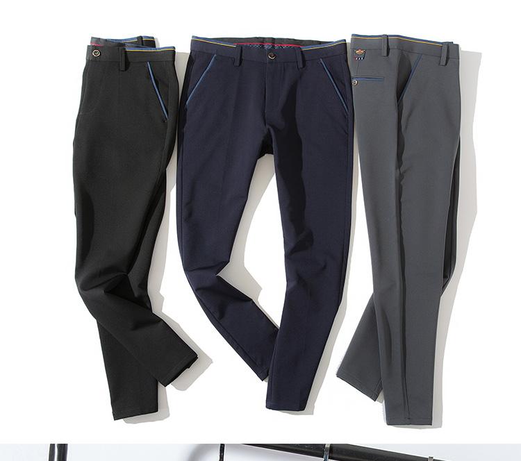 2018 Pring Summer Brand Clothing Men Casual Pants Business Slim Fit Elastic Ankle-length Pants Men's Skinny Pants Men Trousers 14