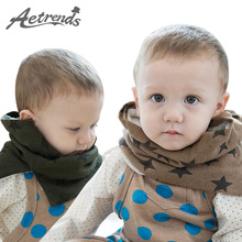 [AETRENDS] Winter Collar Scarf for Kids 1~6 Years Old Baby Cute Scarves with Velvet Inside Star Thicken Ring Z-5054()
