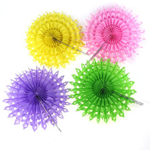 "15PCS 8""(20cm) 12 Colors Handmade Hollow Paper Folding Fans For Wedding/Party/Christmas/Baby Shower Decorations Supplies"