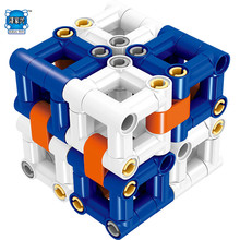 120PCS Self-Locking Building Blocks Bricks Unlimited Transformation Magic Cube Change Shape Compatible Lepins & LELE Best Toys