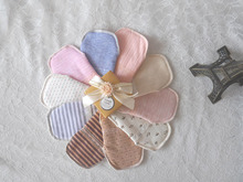 5Pcs Reusable Washable Sanitary Pads Breathable soft cotton Cloth Sanitary Maternity Mama Pads Regular/light napkin mixed color