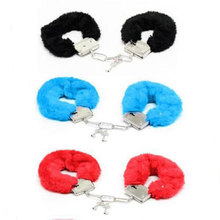Buy Bondage Furry Handcuff Key Police Roleplay Tools Adult Game Erotic Sex BDSM Slave Bondage Plush Handcuff Sex Toy Women