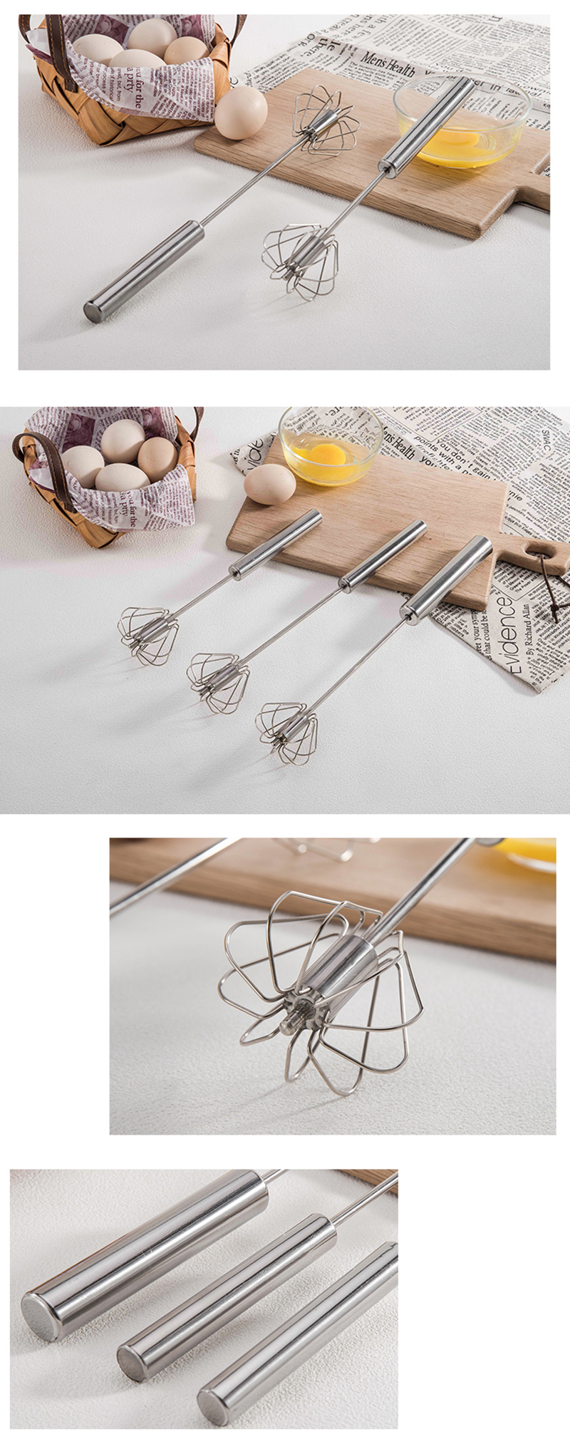 Manual Stainless Steel Kitchen Mixer Semi-automatic Milk Frother Egg Beater Foam Maker Coffee Drink Latte Cappuccino Mixer Mixer 9