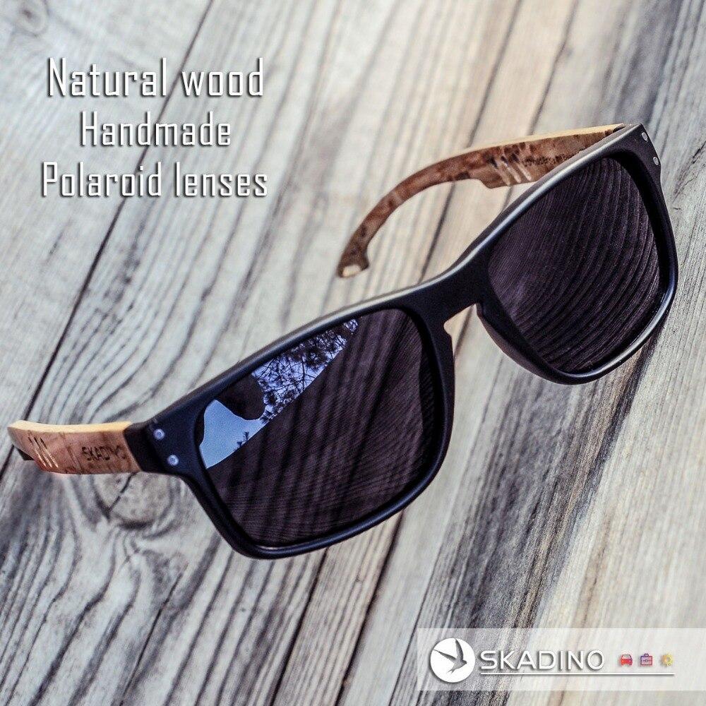 f819e41584d Buy Fashion Beech Wood Sunglasses Wooden Sun Glasses Polarized Women Men  blue pink Lens Handmade SKADINO Brand Cool UV400 - Store store at  AliExpress ...