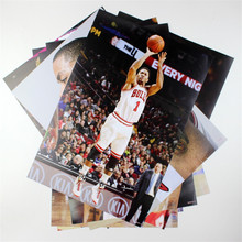 8*(42x29cm)NBA basketball star Derrick Rose 8 posters wall stickers 8 posters fit together