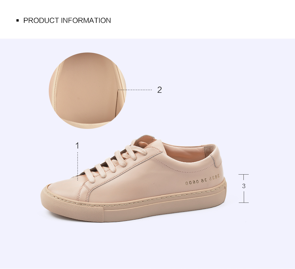 Donna-in Sneakers Women Genuine Leather Flat Low Heel Platform Ladies Lace Up Fashion Breathable Shoes Women 2018 White Nude (9)