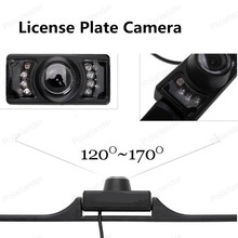 big sale IR LEDS Infrared 120~170 Degree Car License Plate Camera Night Vision Back Up Rear View Camera