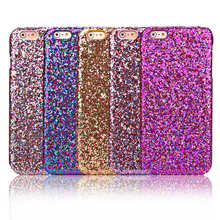 Luxury Fashion Candy Sparkling Phone Cases Covers Crystal Bling For Iphone6 Iphone 6 6s via China Post Registered Air Mail