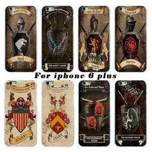 For Apple iPhone 6 plus 6s plus case power game Captain America shield mobile phone sets The latest fashion white shell casing