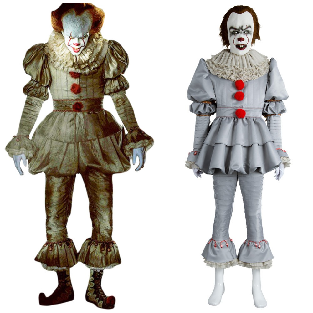Stephen King's It Pennywise Cosplay Costume Adult Men Women Pennywise The Clown Costume Full Suit Fancy Halloween Terror Costume