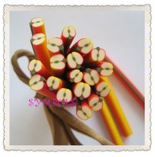 a-01 Free Shipping 100pcs 5mm Apple Shape Fruit Cane Fancy Nail Art Polymer Clay Cane(China)