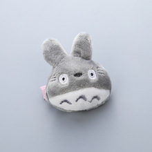 Creative 2017 Three-Dimensional Short Plush Totoro Hairpins Girls Hair Clips Headwear Baby Hair Accessories Children Headdress(China)