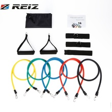 REIZ Natural Latex Yoga Fitness Training Belt Exercise Stretch Bands Straps Accessories Set Elastic Sports Band Gym Equipment(China)