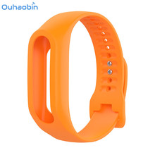 Ouhaobin Colorful Silicone Wrist Strap Bracelet Color Replacement Watchband Silicone Band Strap For TomTom Touch Cardio Activity(China)