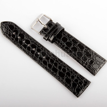 New Arrival High Quality Soft Sweatband Leatherette Strap Steel silver Buckle Wrist Watch Band 20mm black(China)