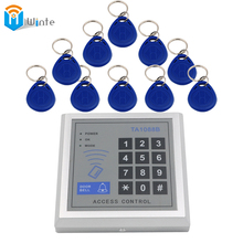 Access Control System 10Pcs RFID FOB Keys+1 pcs Card Reader Access key pad RFID Proximity Entry Door Lock Access Control Winte