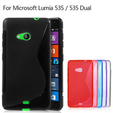 For Nokia Lumia 535 Case S line Pattern Flexible TPU Gel Case for Microsoft Lumia 535 / 535 Dual SIM - 5.0 inch