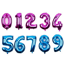 XXPWJ Free Shipping 1pcs 30 Inch Blue. Rose red. Number Balloons happy birthday Wedding party happy new year Decoration