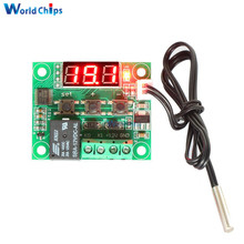 W1209 Digital LED Heat Cool Temp Thermostat Temperature Control Switch Module On/Off Controller Board DC 12V + NTC Sensor